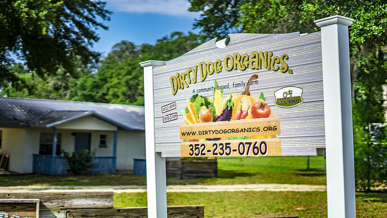 Signage for Dirty Dog Organics