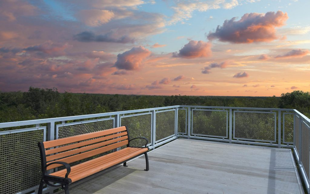 A sunset photo at Green Mountain Scenic Overlook