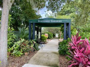 Entrance to Discovery Gardens.