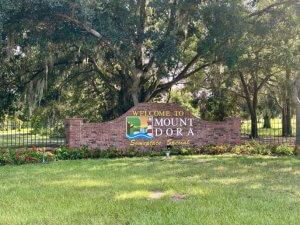 Mount Dora, Florida brick sign.