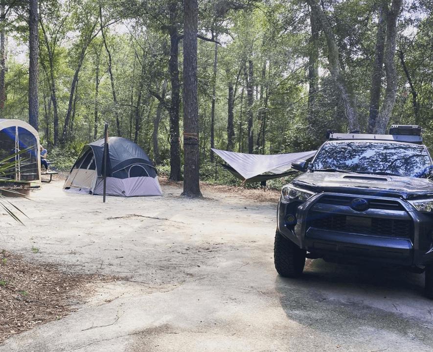 Alexander Springs, camping, tents,truck, springs