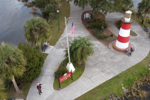 The Mount Dora Lighthouse from above.