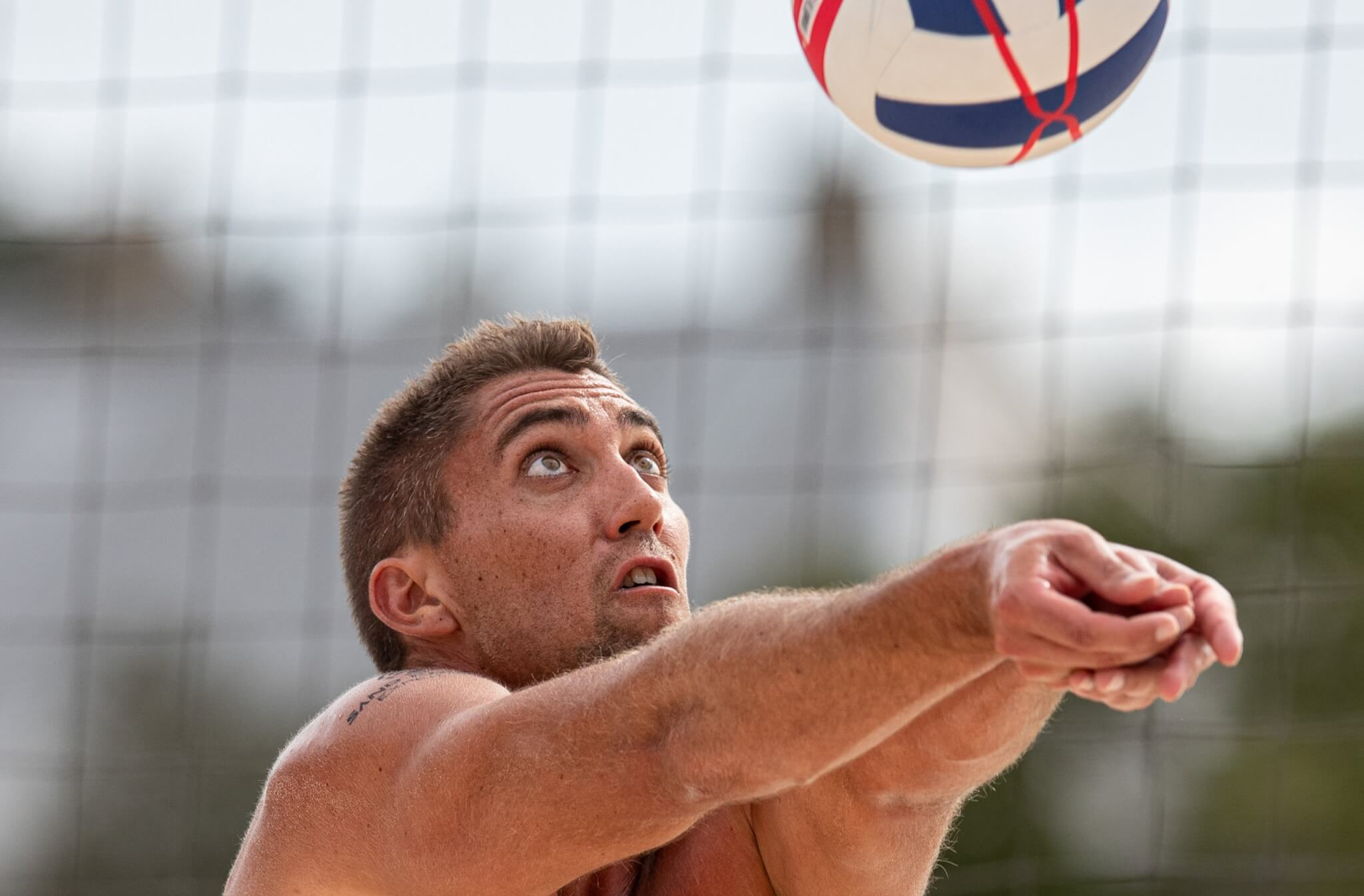 Trevor Crabb playing at the 2021 Florida Pro Best of the Beach professional beach volleyball event