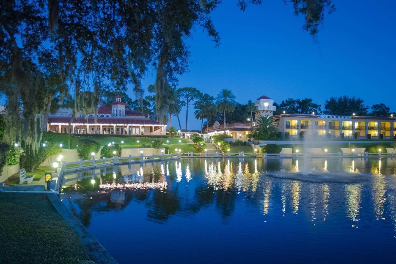 Photo of Mission Inn Resort & Club at dusk.