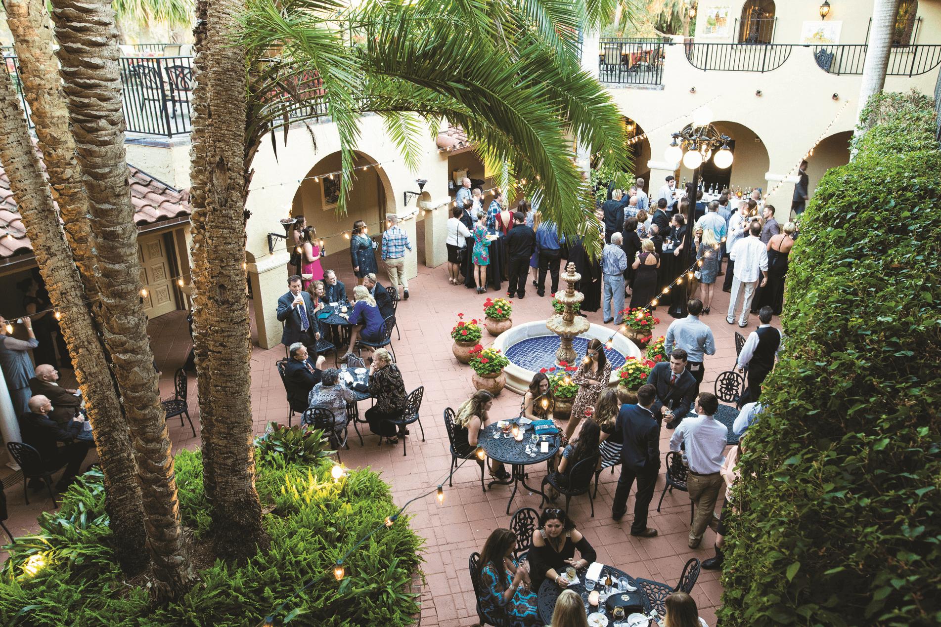 A wedding reception at Mission Inn Resort & Club.