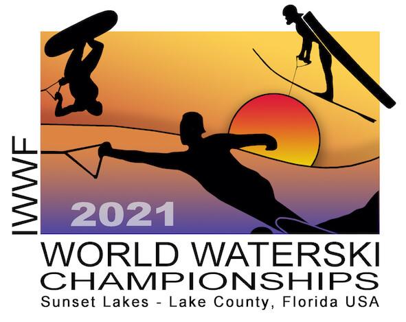 Logo for the 2021 IWWF World Water Ski Championships